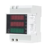 AC80-300V 100A Din Digital Multi-funcional ferroviário atual tensão potência fator medidor amperímetro voltímetro