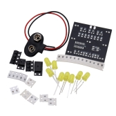 DIY Kit de dados al azar LED táctil electrónicos engastados de 7pcs LED