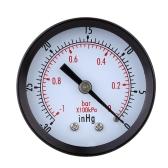 0 ~-30inHg 0 ~-1bar Mini linea aria vuoto manometro misuratore pressione Gage vuoto manometro doppia scala
