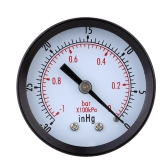 0~-30inHg  0~-1bar ミニエア真空圧力ゲージメーター  圧力ゲージ真空圧力計  ダブルスケールダイヤル