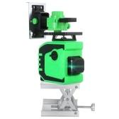 Инструмент для лазерного нивелирования с 12 линиями Самовыравнивающий уровень Духовой уровень Зеленый луч Точная регулировка на 360 ° Инструмент для самонивелирования 82 фута по горизонтали и вертикали и поперечной линии Наклонная линия Наружный лазерный нивелир IP54 Водонепроницаемый с 2 перезаряжаемыми батареями Пульт дистанционного управления