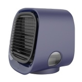 Mini Desktop Air Conditioner Anionic Air Conditioner Fan Air Purification Humidification Mini Cooling Fan USB Multifunctional Cooler Blue M201