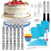 Декор для торта из нержавеющей стали принадлежности для украшения торта поворотный столик для торта 106 шт. / Компл. Инструменты для крема DIY