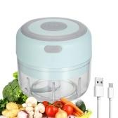Электрический мини-измельчитель чеснока, слайсер для еды, портативный чесночный измельчитель, блендер, кухонный комбайн для перца, чили, овощей, орехов, мяса, 100 мл, USB аккумуляторная