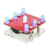 Modulo di scossa a dadi del LED con vibrazione del fai da te con piccolo motore a vibrazione