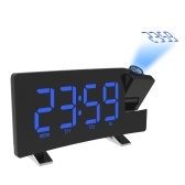 Wake-up Clock Digital  LED Light Time Projection Loud Alarm Clocks with FM Radio Snooze Sleep Function