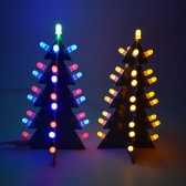BRICOLAGE Étoiles Clignotant 3D LED Lumière Décoration Arbre De Noël Électronique Module D'apprentissage Module Commutation Effet Différent Par Un Bouton