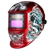 Capacete de soldagem industrial Capacete de soldagem de escurecimento automático de energia solar TIG MIG Máscara de design de chapéu de moagem de crânio
