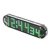 DS3231 Alta Precisão DIY Digital Matriz Dot LED Alarm Clock Kit com Caso Transparente Temperatura Data e Hora de Exibição