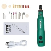 KKmoon 18V 1.2W Mini Electric Grinder Set Cordless Mini Handle Small Size Grinding Machine Carving Engraving Pen Trimming Milling Polishing Micro Household Grinder Drilling Cutting Engraving Tool Kit / Green