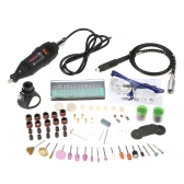 161pcs 5 vitesse variable 180W outil de meulage électrique portatif ensemble Mini Portable Rotary Drill Grinder Versatile coupe polissage Machine à poncer Bits Engrave Tools Kit avec accessoires bricolage Kits EU Plug 220 V