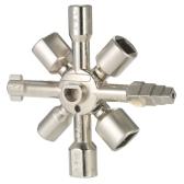 Chiave universale per armadietto Chiave Attrezzi per imbarcazioni Chiave dinamometrica Chiave a croce con punta a doppia testa