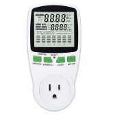 Digital Wattmetro Power Meter Countdown Timer Socket Grounded