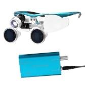 Loupe Portable Portable 3.5X 420mm Chirurgie Médicale Loupes Optique Casque En Verre Loupe Verres + 3W LED Phare