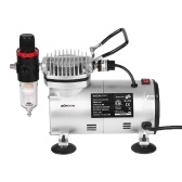 KKmoon Mini Air Compressor Professional Gravity Feed Dual-Action Airbrush Piston Air Compressor