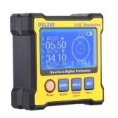 DXL360 デュアル軸デジタル アングル分度器 5 側磁気基本高精度デュアル軸デジタル表示レベル 100-240 v 50-60 Hz の