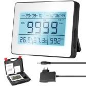 Detector de dióxido de carbono con registro de datos LCD profesional con concentración de CO2