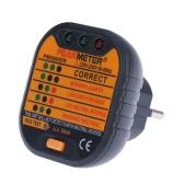 PEAKMETER PM6860DR автоматические электрические розетки тестер нейтральных живут тестирования код теста ЕС разъем 230В провода заземления