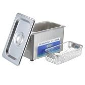 KKmoon 900 мл Цифровой ультразвуковой очиститель Бытовая машина для чистки очков Инструмент для чистки ювелирных изделий из нержавеющей стали Инструмент для чистки зубных щеток EU Plug