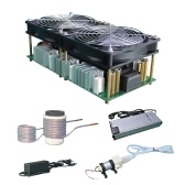 2500W Induction Heating Machine Module with Coil Dual Fan Powersupply Kit Metal Melting Heating Casting Refining Set