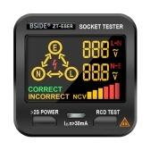 BSIDE電気ソケットテスターコンセントテスターNCVテスト付きデジタルLCDディスプレイRCDテスト極性テスト電気回路極性電圧検出器ホームスクールオフィスラボ工場安全検査