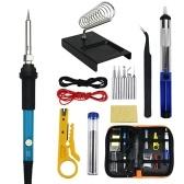 KKmoon 15 PCS Soldering Gun Kit with Storage Bag 60W Handheld Soldering Gun