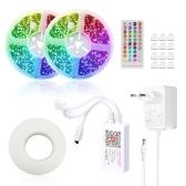 Tuya S mart L ife LED Tiras de luz Controlador Wifi inteligente para tiras de LED RGB Luz Control remoto de voz Control de tiras de colores Luz compatible con Amazon alexa, Google home