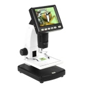 "Professional Portable Stand Alone Desktop 3.5"" LCD Digital Microscope 10-300X up to 1200x Magnification 5M Resolution and Measurement Storage Card"