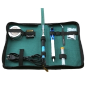 60W Soldering Iron 6-Tip Welding Kit Lead-Free 12 in 1 US Plug