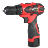16.8V Lithium-Ion Two-speed Multi-functional Electric Cordless Drill Rechargeable Screwdriver with LED Light