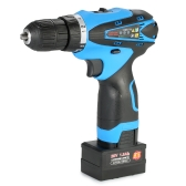 25V Lithium-Ion Two-speed Multi-functional Electric Cordless Drill Rechargeable Screwdriver with LED Light