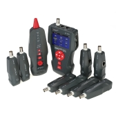 Многофункциональный ЖК-кабель Тестер кабеля Проводной проводник RJ11 RJ45 BNC Поиск длины провода с 8 удаленными адаптерами Функции тестирования PING & POE AC110-220V
