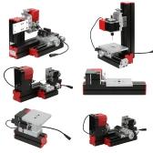 ミニDIY 6 in 1多目的機械多機能電動トランスジューサジグソーグラインダドリルプラスチックハードウェア旋盤木材旋盤掘削サンディング旋盤フライス加工機ツールキットメタルバージョン