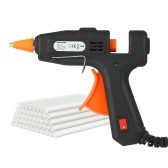 Meterk Mini Hot Melt Glue Gun with ON/OFF Switch 50pcs Glue Sticks 20W DIY Heating Craft Repair Tool