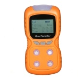 4 in 1 Gas Detector CO Monitor Digital Handheld Toxic Gas Carbon Monoxide Detector Hydrogen Sulfide Gas Tester with LCD Display Sound+ Light Vibration Alarm