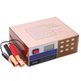 12V/24V Full Automatic-Protect Quick Battery Charger Maintainer with Alligator Clamps