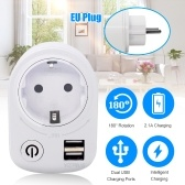 Intelligent USB Countdown Socket Switch Socket Plug Phone Charger