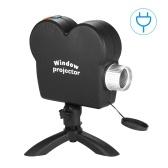 Christmas Halloween Window Display Laser DJ Stage Lamp Spotlights Projector Wonderland 12 Movies Xmas Projection Light EU Plug