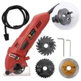 400W Multifunctional Mini Electric Circular Saw Kit Cutting Machine Set DIY Blades Guide Ruler Woodworking Tool