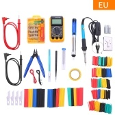 389pcs Soldering Irons Kit with Digital Multimeter 60W Adjustable Temperature Welding Tool 332Pcs Heat Shrink Tubing 32 in 1 Screwdrivers Solder Sucker Wire Cutter