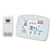 YJ-5003 ЖК-цифровые часы Температура Цветная метеостанция с датчиком Беспроводные погодные часы Электронные часы