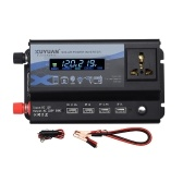Intelligent Car Inverter 4 USB Output Ports Modified Sine-wave Converter with LCD Display