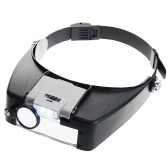 Bijoutiers réglables Head Headband Lamp Magnifier Illuminated Lunettes de loupes Lens Loupe 2 LED Light Visor pour la réparation chirurgicale Precision Work Reading