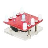DIY Swing Shaking LED Würfel Kit Modul mit kleinen Vibration Motor