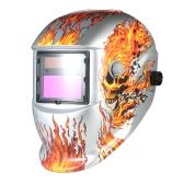 Casco per saldatura industriale Solar Power Auto Darkening Welding Helmet TIG MIG Mask Skull Grinding Design