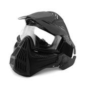 Tactical Full Face Mask Outdoor Protection Mask Przeciwmgielne okulary rowerowe Polowanie Okulary wojskowe dla CS Field Airsoft Paintball