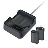 Base de charge double USB avec 2 batteries pour batterie de contrôleur sans fil XBOXONE