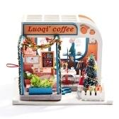 Assemblez le kit de miniatura en bois de jouet de café de bricolage