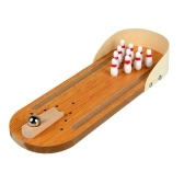 Mini Bowling Game Mini Wooden Desktop Bowling Game Toy Gift for Kids House Entertainment Toys