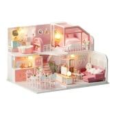 Комплект для кукольного домика DIY Деревянный миниатюрный комплект для кукольного домика DIY